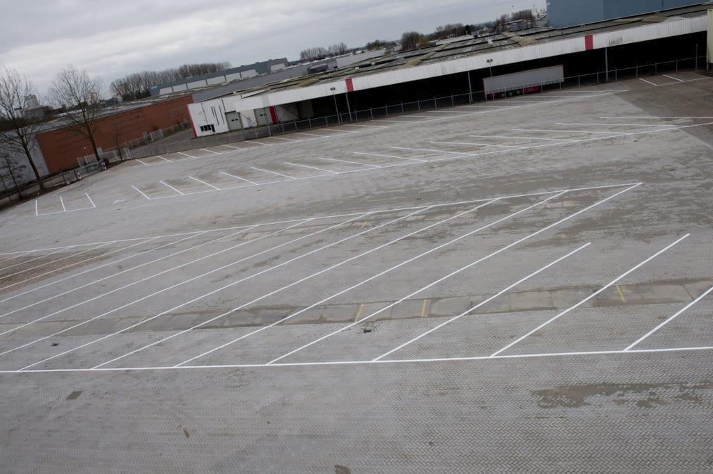 Parkeerterrein aanleggen